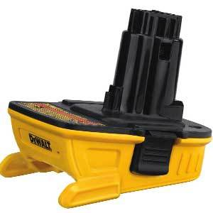 DEWALT DCA1820 Battery Adapter for 18V Tools, 20V
