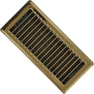 Imperial RG0232 4 x 10-inch Brass Plated Floor Vent