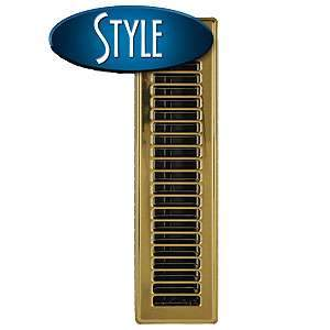 Imperial RG0166 2¼ x 12-inch Brass Plated Floor Vent