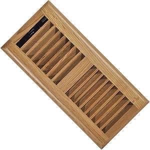 Imperial RG2194 4 x 10-inch Louvered Solid Oak Floor Vent