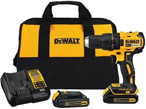 "DeWalt 20V 1/2"" Lithium-ion Cordless Compact Drill Kit 012391590"