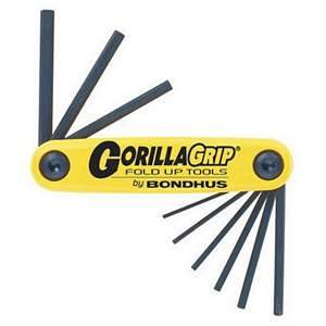 Bondhus, GorillaGrip 9-blade Fold-Up Hex Set (SAE) 12589