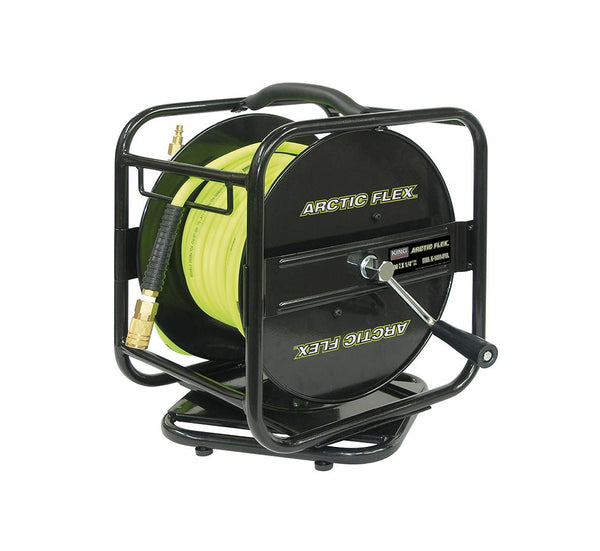 King, K-10014FRL Manual Air Hose Reel With Hybrid Polymer Air Hose 1/4'' X 100' 16641