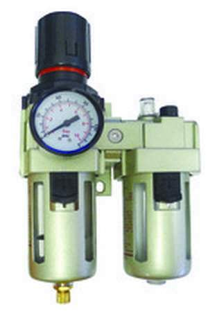 ROK, Air Regulator & Lubricator 1/2in w/ Gauge
