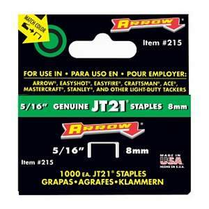 Arrow Staples, Light Duty 5/16'' (1000-pk) 215
