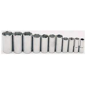 Gray Tools Chrome Deep SAE 6-point Socket Set (11-pc) 25211