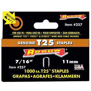 Arrow 7/16-inch T25 Round Crown Staples (1000-pk)