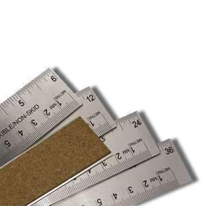 Stainless Steel Ruler with Cork Back 12