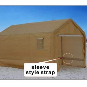 Western Rugged 12'' x 20'' Shelter Snow & Winter Resistant Fully Covered Canopy