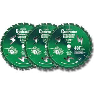 Samona 7¼-inch 3-pc Saw Blade Set