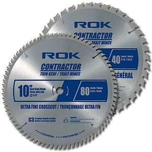 ROK 40480 10-inch Contractor 2-Blade Combo Pack