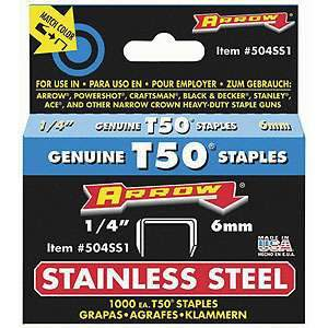Arrow, Stainless Steel T50 Staples (1/4'') 504SS1