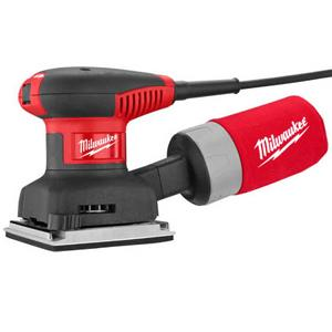 Milwaukee 6033-21 3 Amp 1/4 Sheet Orbital 14,000 OBM Compact Palm Sander with Dust Canister