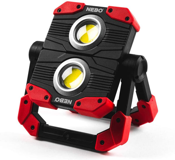 NEBO Omni 2K Work Light: 2000 Lumen Omni-Directional Portable Work light Flashlight Features USB Power Bank