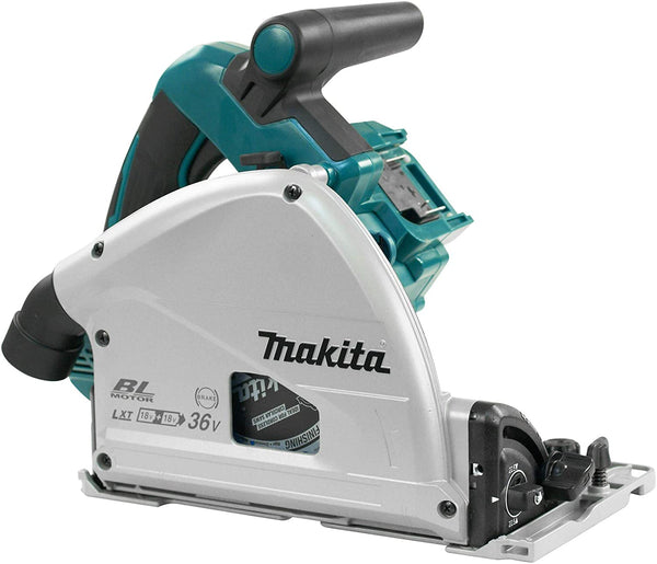 "Makita DSP600ZJ 18Vx2 (36V) LXT Brushless 6-1/2"" Plunge Cut Saw (Tool Only) Track Saw"