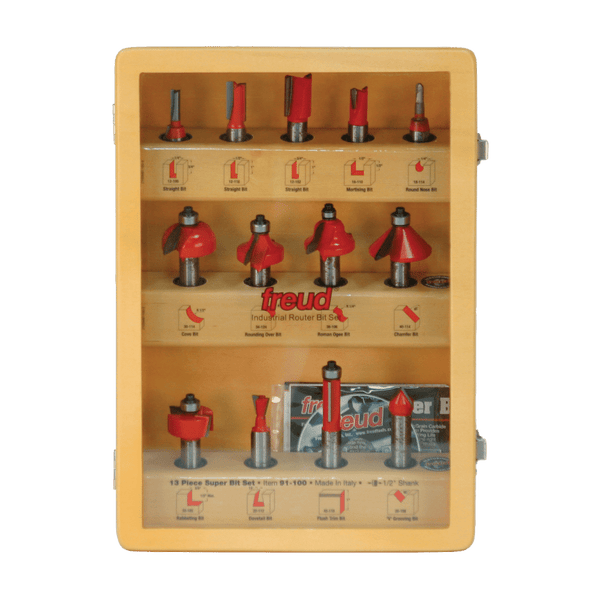 Freud, 91-100 13 Piece Super Router Bit Set 1/2'' Shank