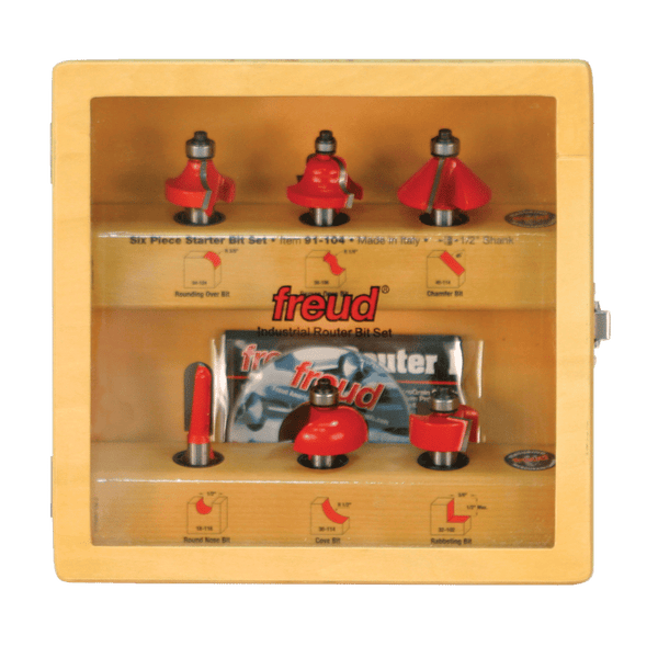 Freud, 91-104 6-pc Router Bit Starter Set 1/2'' Shank This Item Has Been Discontinued