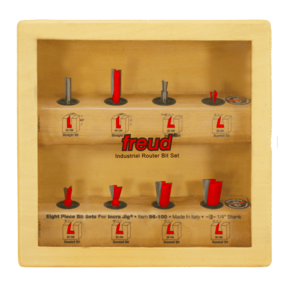 Freud, 96-100 8 Piece Bit Set for Incra Jig 1/4'' Shank