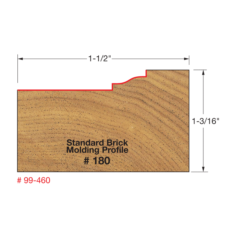 *** Freud, 99-460 Brick Molding Bit (Profile