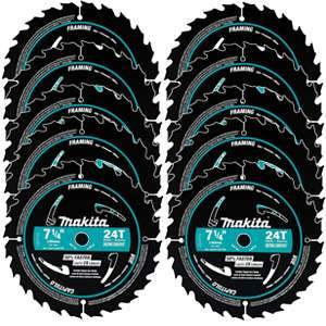 Makita A-94530-10 7-1/4 inch 24T Framing Blade 10-Pack