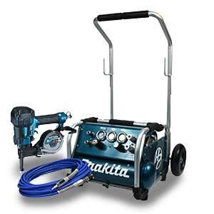 Makita High Pressure Coil Concrete Nailer Combo Kit AC310HX4