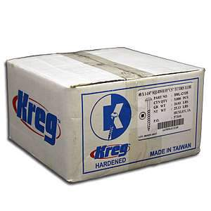 Kreg, SML-C125-5000 1.25'' Coarse Thread Pocket Hole Screws 5000pk 13870
