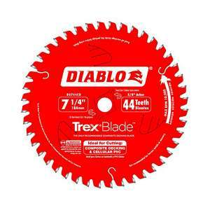 Freud Diablo 7¼-inch Composite Decking Trex Blade D0744CD
