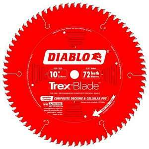 Freud Diablo 10-inch Composite Decking Trex Blade D1072CD
