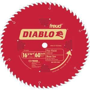 Freud D1660X Diablo Timber Beam Saw Blade 16-5/16 Inch x 60 tooth ATB 1-Inch Arbor