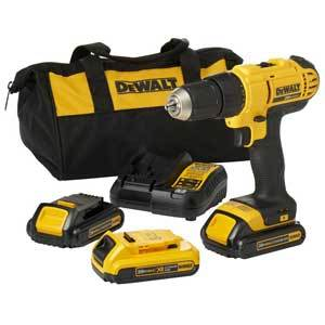 Dewalt 1/2 in 20 Volt Compact Lithium-ion Cordless Driver Drill Kit DCD771C2XB
