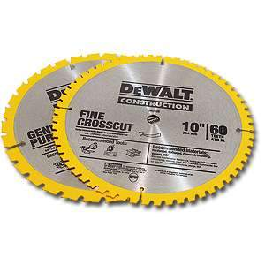 DeWalt DW3106P5 Saw Blades 2pk 10-Inch 60-Tooth Crosscutting Saw Blade and 10-Inch 32-Tooth General