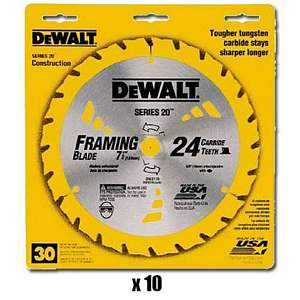 DeWalt 7-1/4 inch Thin Kerf Framing Saw Blades 10-pk DW357810