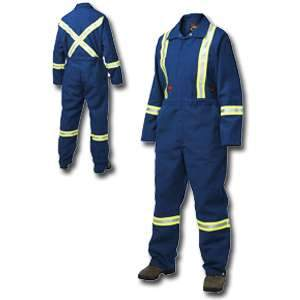 Tough Duck Flame Resistant Unlined Coverall Enhanced Visibility, F7740