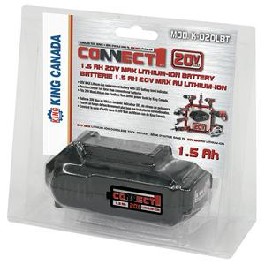 King, K-020LBT 1.5Ah 20V Max Lithium-ion Battery 16640