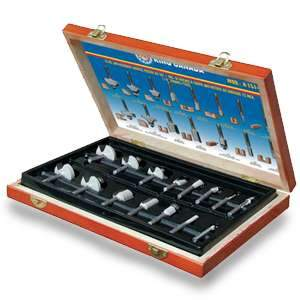 King, 15pc. Router Bit Set 1/2'' Shank K-1512