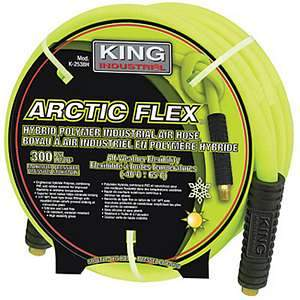 King K-2514H 25-foot x ¼-inch ARCTIC FLEX Hybrid Polymer Industrial Air Hose 12726