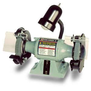 King, 6in Bench Grinder w/ Lamp