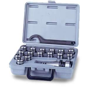 King, KCS-R8-15 Taper 18pc. (R8) Collet Set 16677