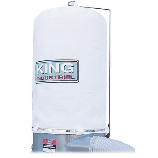 King, KDCB-4043T-1MIC Replacement 1 Micron Felt Upper Dust Bag 166636