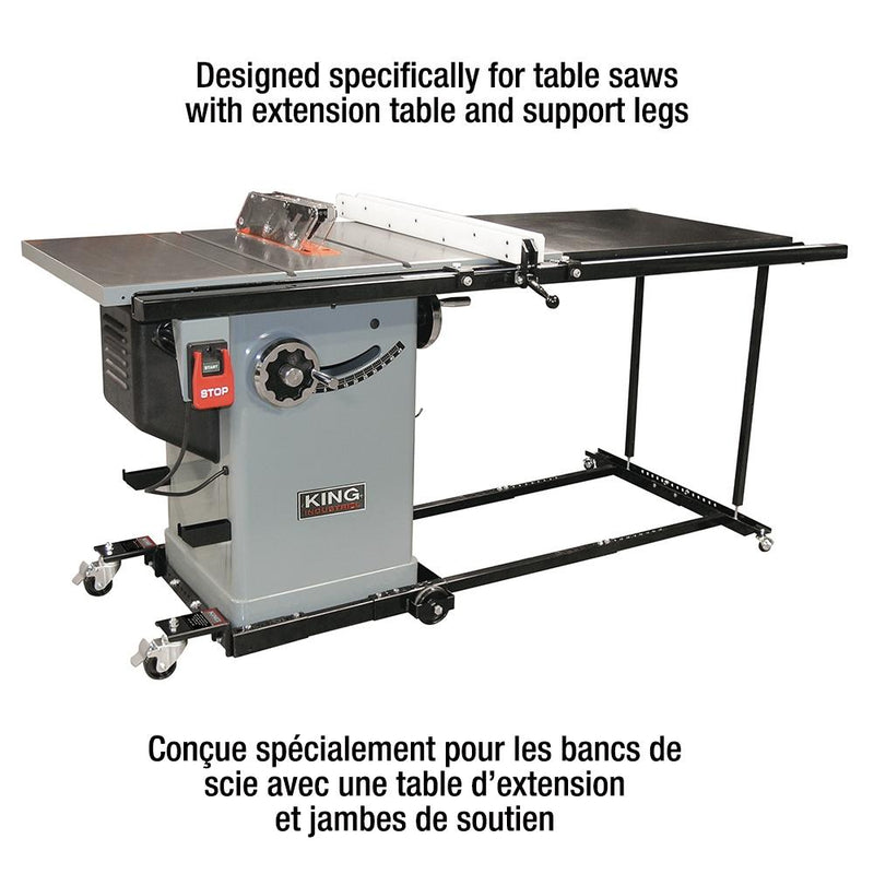 King, KMB 1390X HEAVY-DUTY UNIVERSAL MOBILE BASE FOR TABLE SAWS 16710