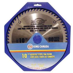 King, KSC-1060T 10'' Diameter 60 Tooth Cross-Cut Carbide Tipped Saw Blade 16727