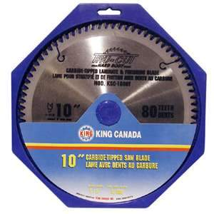 King, KSC-1080T 10'' Laminate 80T Carbide Tipped Saw Blade 5/8'' Arbor