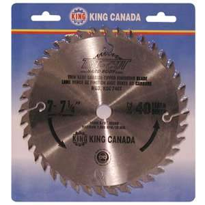 King, KSC-740T 7¼-inch 40T Finishing Saw Blade 5/8'' Arbor 16732