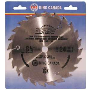 King, KSC-824T 10'' 24 Tooth Framing Carbide Tipped Saw Blade