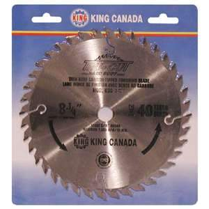 King, KSC-840T  8¼'' 40 tooth Finishing Carbide Tipped Blade 16735