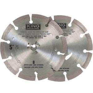 King, KW-9103 5'' Segmented Diamond Stone/Tile Blade 16761