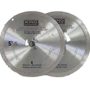 King, KW-9104 5'' Diamond Glass Blade 14735