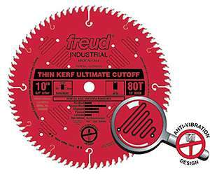 Freud LU74R010 10-inch Thin Kerf Ultimate Crosscut Blade 5/8'' Arbor