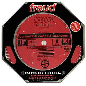 Freud 10-inch Ultimate 80T Plywood & Melamine Blade LU80R010