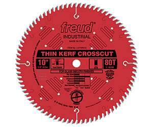 Freud LU88R010 10-inch Thin Kerf Fine Finishing Blade 5/8'' Arbor